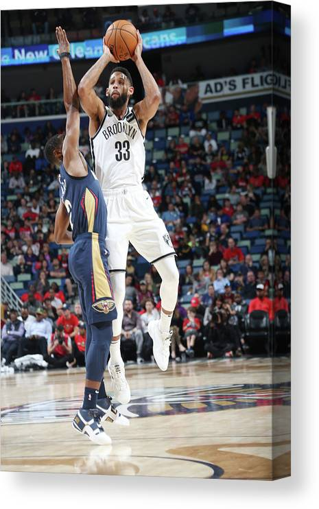 Smoothie King Center Canvas Print featuring the photograph Allen Crabbe by Layne Murdoch