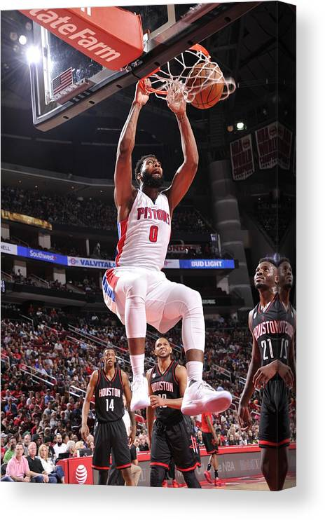 Nba Pro Basketball Canvas Print featuring the photograph Andre Drummond by Bill Baptist