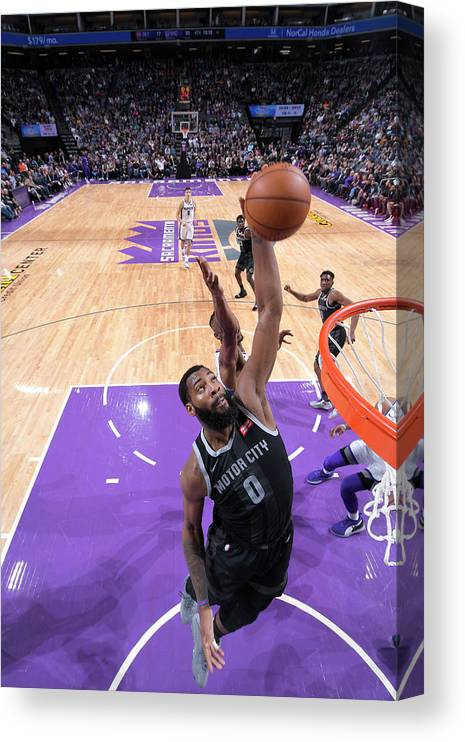 Nba Pro Basketball Canvas Print featuring the photograph Andre Drummond by Rocky Widner