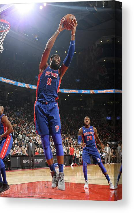 Nba Pro Basketball Canvas Print featuring the photograph Andre Drummond by Ron Turenne