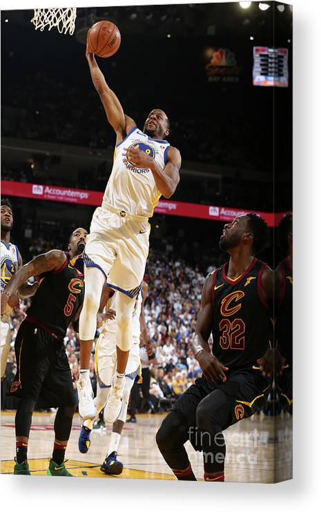 Nba Pro Basketball Canvas Print featuring the photograph Andre Iguodala by David Sherman