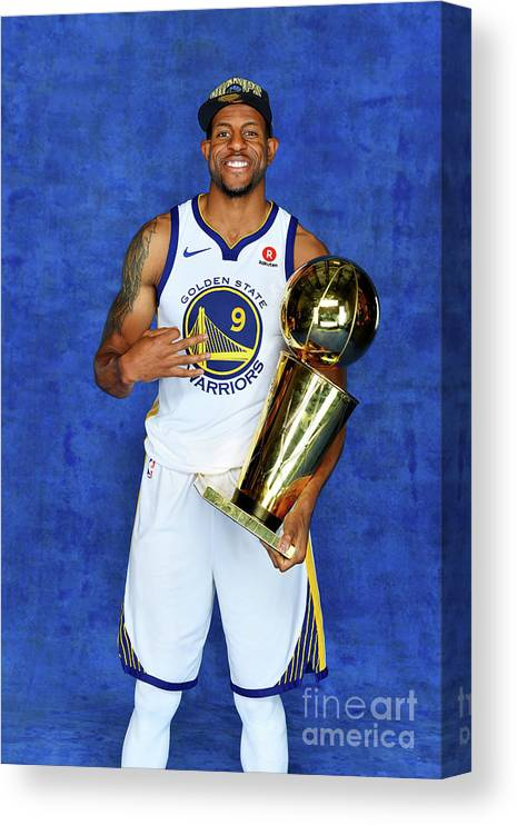 Playoffs Canvas Print featuring the photograph Andre Iguodala by Jesse D. Garrabrant