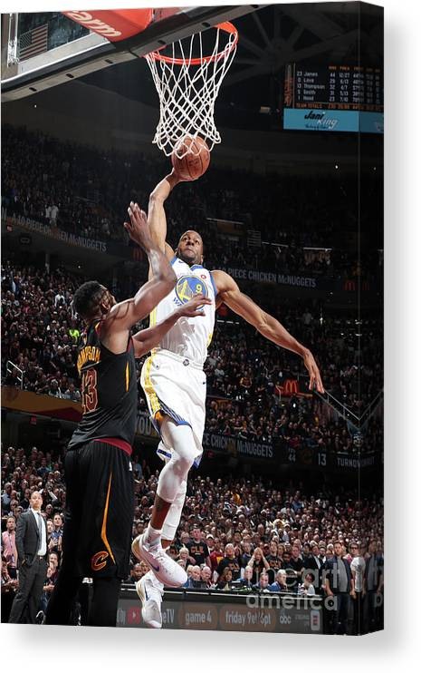 Playoffs Canvas Print featuring the photograph Andre Iguodala by Nathaniel S. Butler
