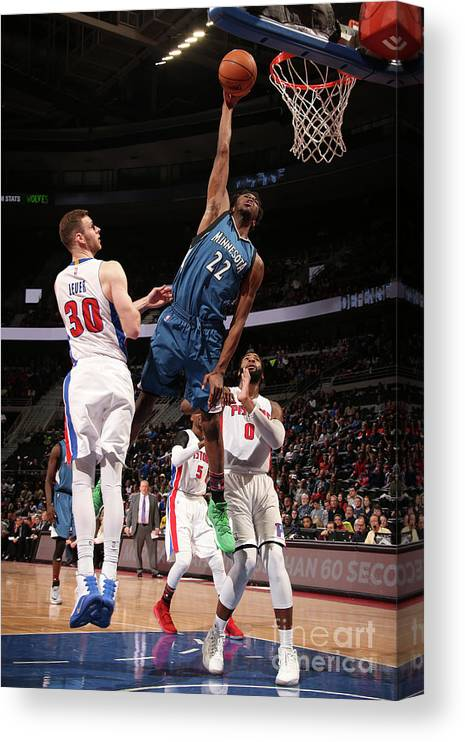 Nba Pro Basketball Canvas Print featuring the photograph Andrew Wiggins by Brian Sevald