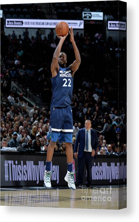 Nba Pro Basketball Canvas Print featuring the photograph Andrew Wiggins by Mark Sobhani
