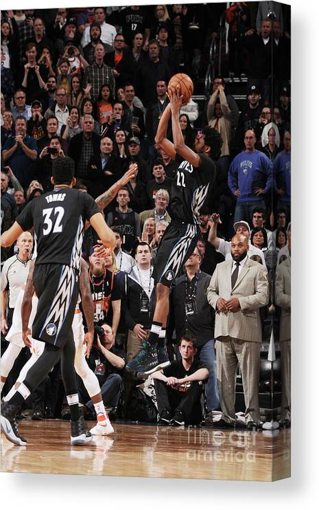 Nba Pro Basketball Canvas Print featuring the photograph Andrew Wiggins by Michael Gonzales