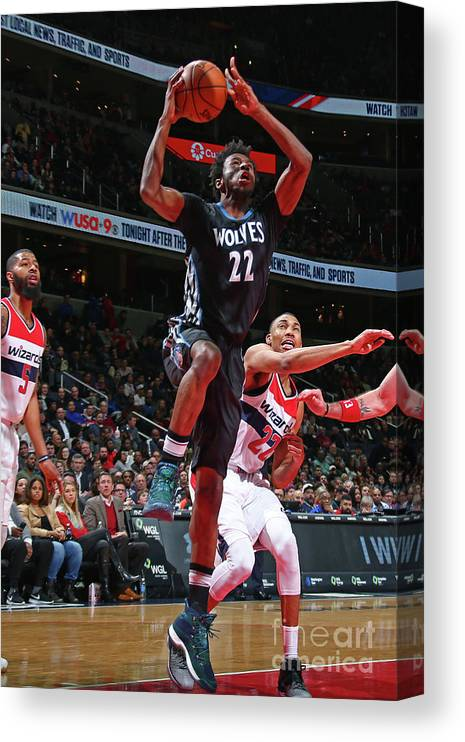 Nba Pro Basketball Canvas Print featuring the photograph Andrew Wiggins by Ned Dishman