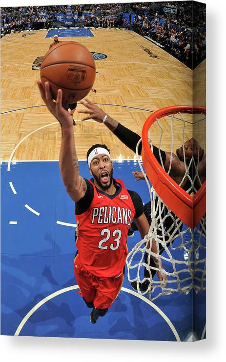 Nba Pro Basketball Canvas Print featuring the photograph Anthony Davis by Fernando Medina