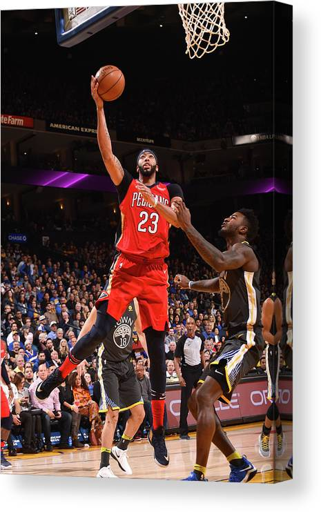Nba Pro Basketball Canvas Print featuring the photograph Anthony Davis by Noah Graham