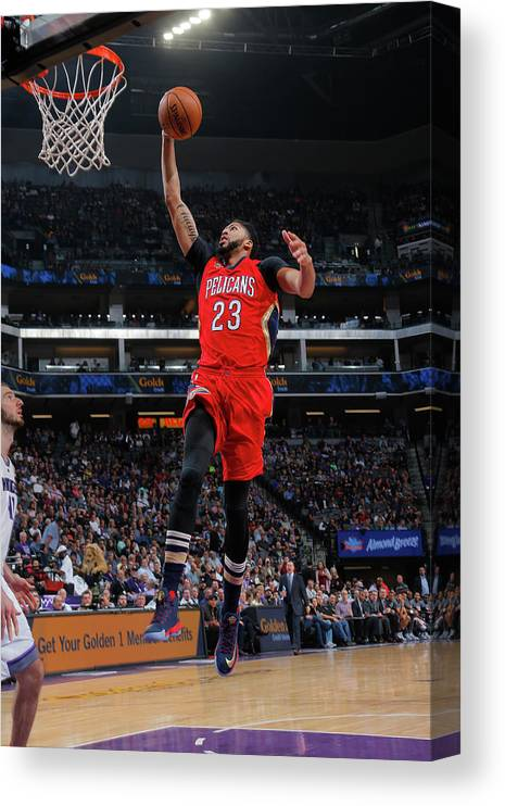 Nba Pro Basketball Canvas Print featuring the photograph Anthony Davis by Rocky Widner
