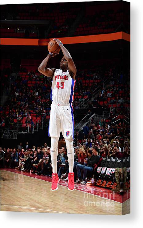 Nba Pro Basketball Canvas Print featuring the photograph Anthony Tolliver by Chris Schwegler