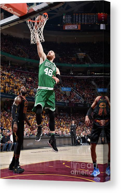 Playoffs Canvas Print featuring the photograph Aron Baynes by David Liam Kyle
