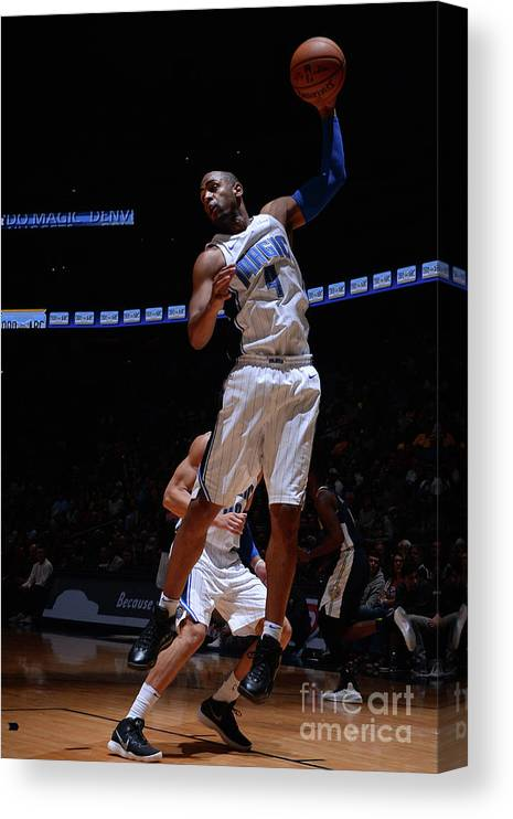 Nba Pro Basketball Canvas Print featuring the photograph Arron Afflalo by Bart Young