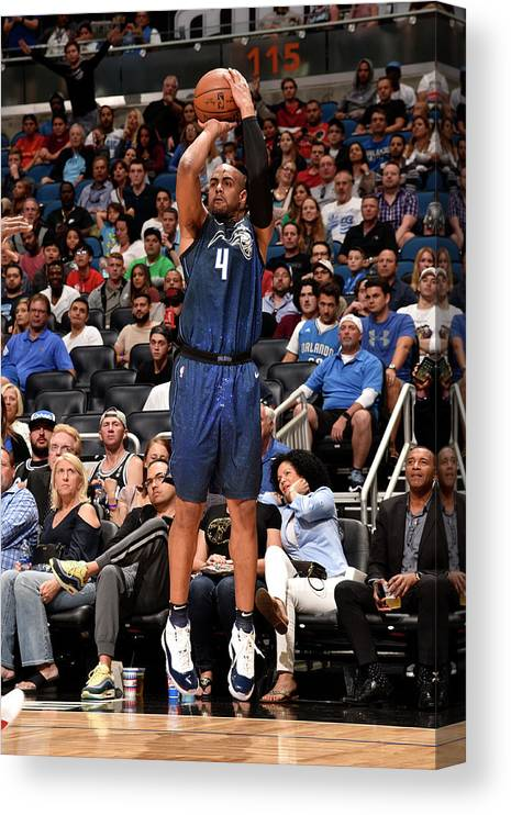 Nba Pro Basketball Canvas Print featuring the photograph Arron Afflalo by Gary Bassing