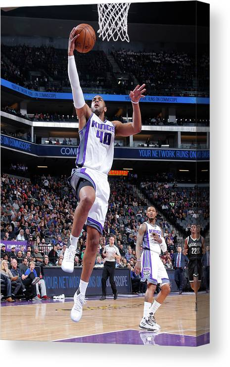 Nba Pro Basketball Canvas Print featuring the photograph Arron Afflalo by Rocky Widner
