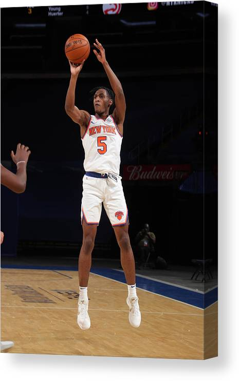 Nba Pro Basketball Canvas Print featuring the photograph Atlanta Hawks v New York Knicks by Nathaniel S. Butler