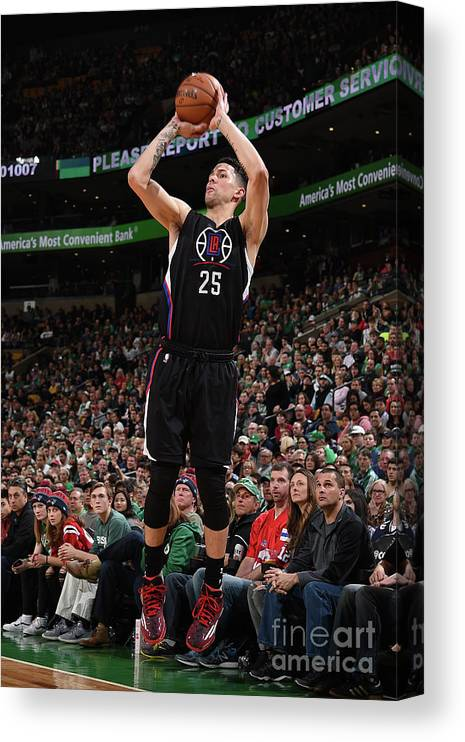 Nba Pro Basketball Canvas Print featuring the photograph Austin Rivers by Brian Babineau