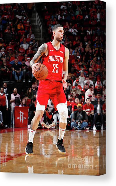 Nba Pro Basketball Canvas Print featuring the photograph Austin Rivers by Jeff Haynes