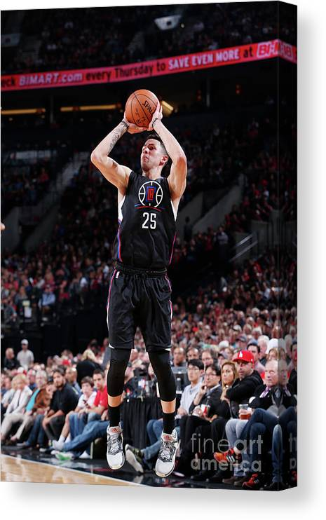 Nba Pro Basketball Canvas Print featuring the photograph Austin Rivers by Sam Forencich