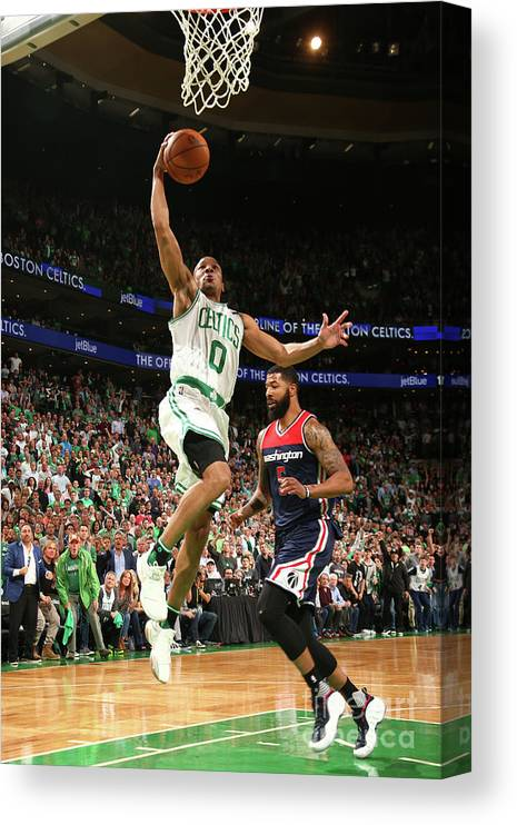 Playoffs Canvas Print featuring the photograph Avery Bradley by Ned Dishman