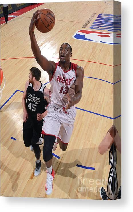 Nba Pro Basketball Canvas Print featuring the photograph Bam Adebayo by David Dow