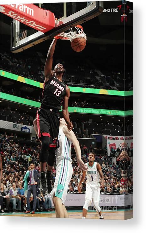 Nba Pro Basketball Canvas Print featuring the photograph Bam Adebayo by Kent Smith