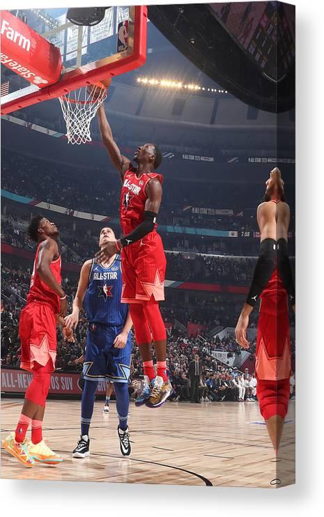 Nba Pro Basketball Canvas Print featuring the photograph Bam Adebayo by Nathaniel S. Butler