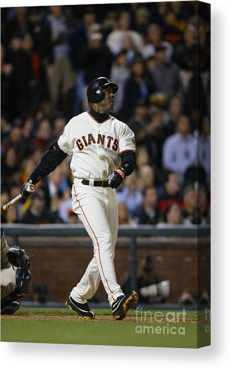 San Francisco Canvas Print featuring the photograph Barry Bonds by Don Smith