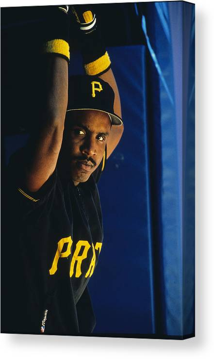 National League Baseball Canvas Print featuring the photograph Barry Bonds by Ronald C. Modra/sports Imagery