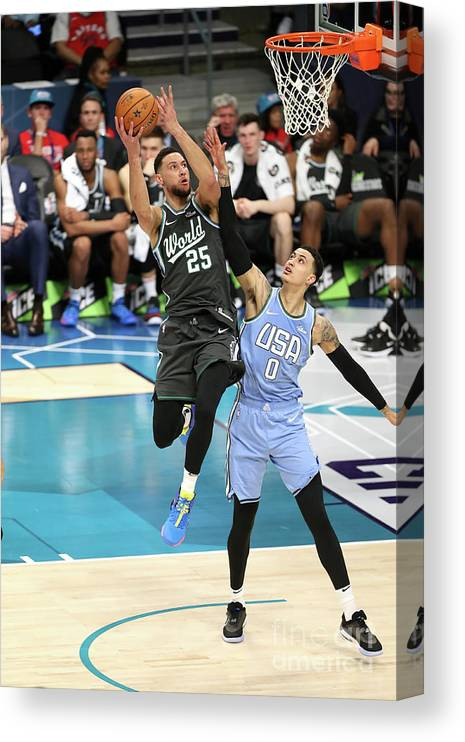 Nba Pro Basketball Canvas Print featuring the photograph Ben Simmons by Kent Smith