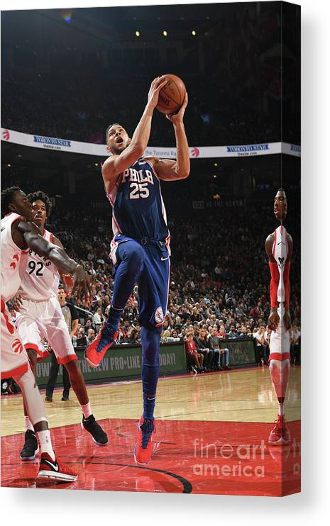 Nba Pro Basketball Canvas Print featuring the photograph Ben Simmons by Ron Turenne