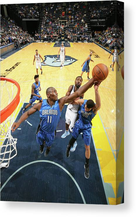 Nba Pro Basketball Canvas Print featuring the photograph Bismack Biyombo by Joe Murphy