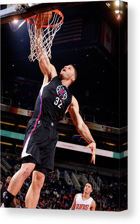 Nba Pro Basketball Canvas Print featuring the photograph Blake Griffin by Barry Gossage