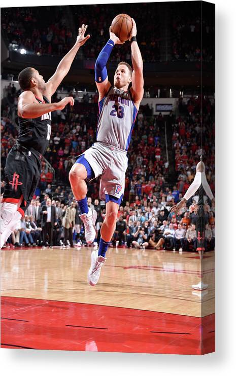 Sports Ball Canvas Print featuring the photograph Blake Griffin by Bill Baptist