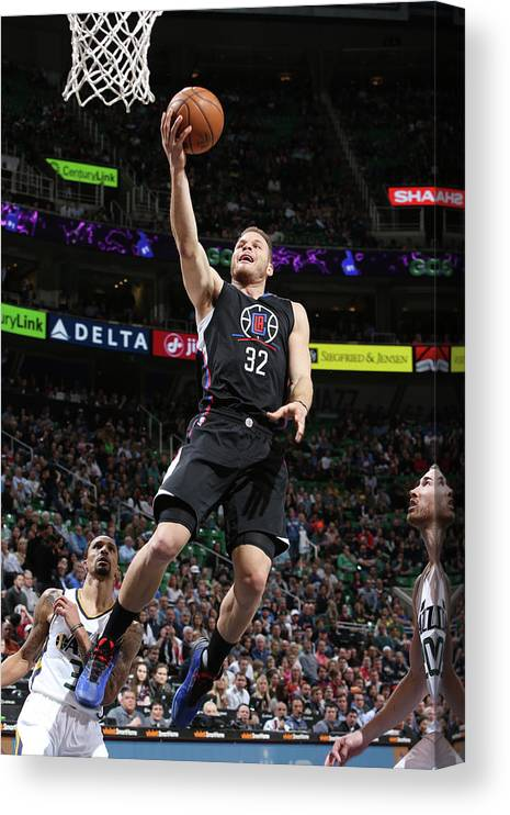Nba Pro Basketball Canvas Print featuring the photograph Blake Griffin by Melissa Majchrzak
