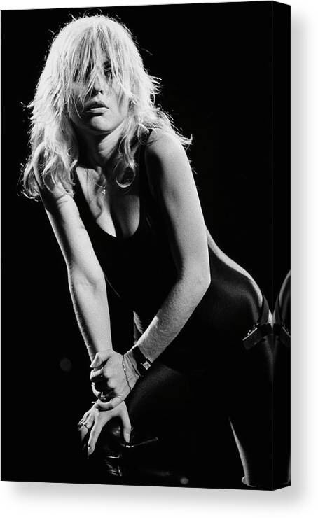 Rock Music Canvas Print featuring the photograph Blondie In Concert At The Whiskey by George Rose