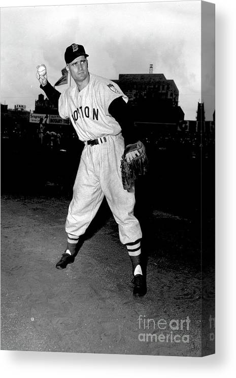 People Canvas Print featuring the photograph Bobby Doerr by Kidwiler Collection