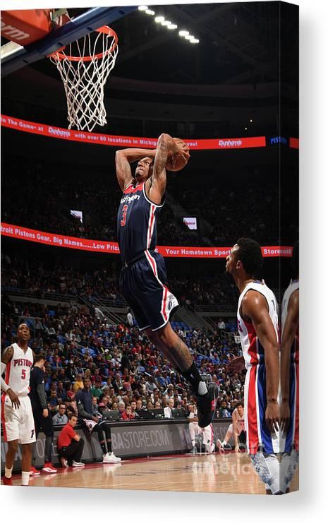 Nba Pro Basketball Canvas Print featuring the photograph Bradley Beal by Chris Schwegler