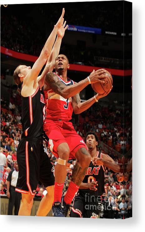 Nba Pro Basketball Canvas Print featuring the photograph Bradley Beal by Oscar Baldizon
