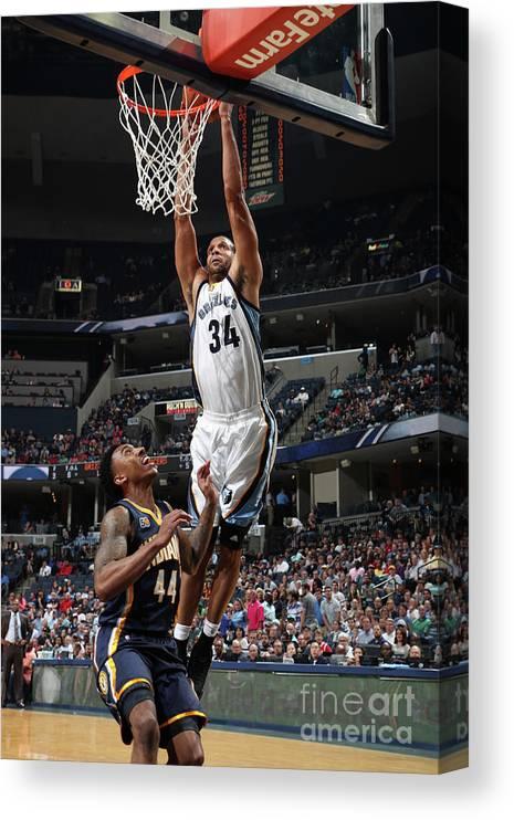 Nba Pro Basketball Canvas Print featuring the photograph Brandan Wright by Joe Murphy