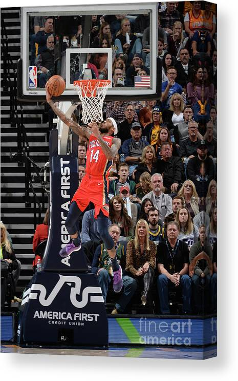 Nba Pro Basketball Canvas Print featuring the photograph Brandon Ingram by Noah Graham