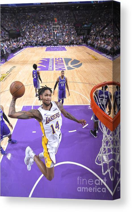 Nba Pro Basketball Canvas Print featuring the photograph Brandon Ingram by Rocky Widner