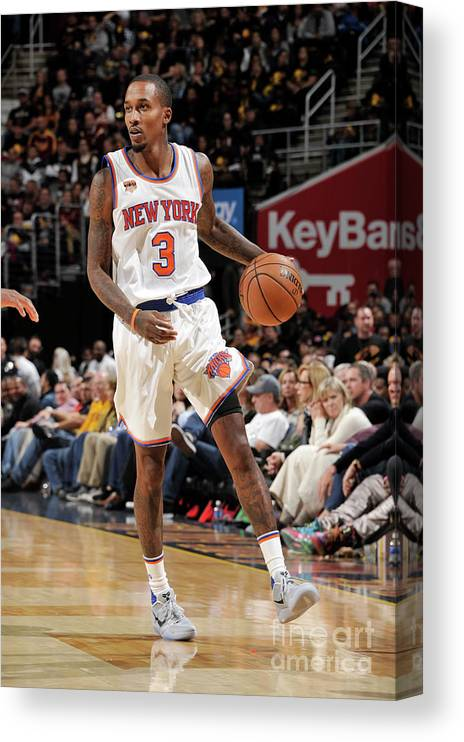 Nba Pro Basketball Canvas Print featuring the photograph Brandon Jennings by David Liam Kyle