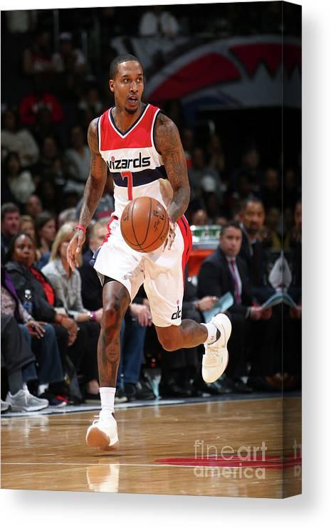 Nba Pro Basketball Canvas Print featuring the photograph Brandon Jennings by Ned Dishman