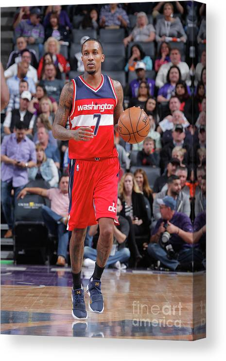 Nba Pro Basketball Canvas Print featuring the photograph Brandon Jennings by Rocky Widner