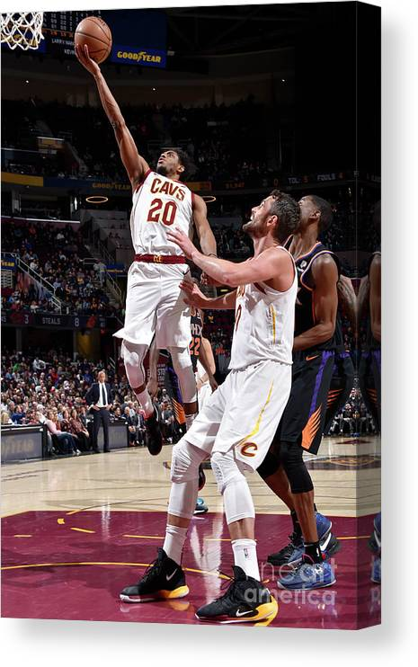 Nba Pro Basketball Canvas Print featuring the photograph Brandon Knight by David Liam Kyle