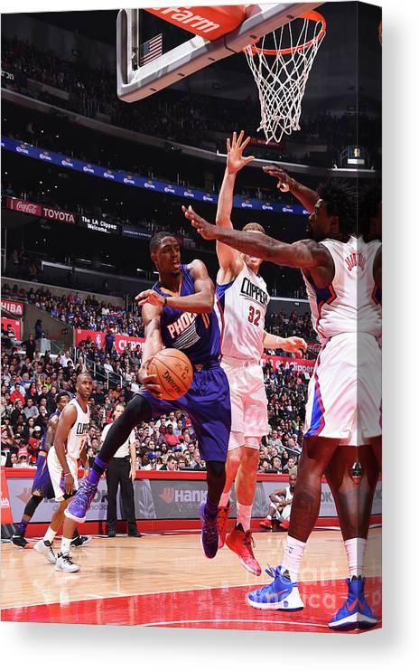 Nba Pro Basketball Canvas Print featuring the photograph Brandon Knight by Juan Ocampo