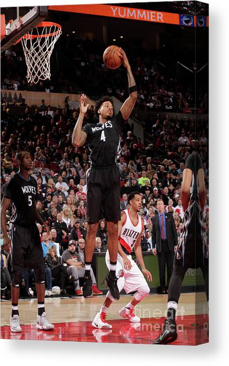 Nba Pro Basketball Canvas Print featuring the photograph Brandon Rush by Cameron Browne