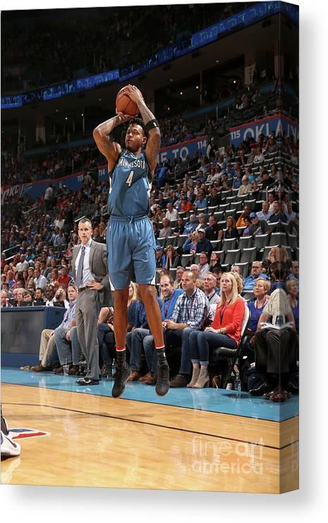 Nba Pro Basketball Canvas Print featuring the photograph Brandon Rush by Layne Murdoch