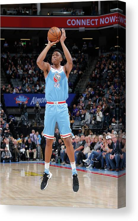 Nba Pro Basketball Canvas Print featuring the photograph Bruno Caboclo by Rocky Widner